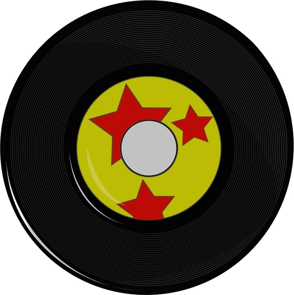 599x600 Vintage Record Free Vector In Open Office Drawing Svg ( Svg