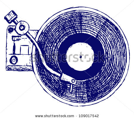450x398 Record Player Drawing