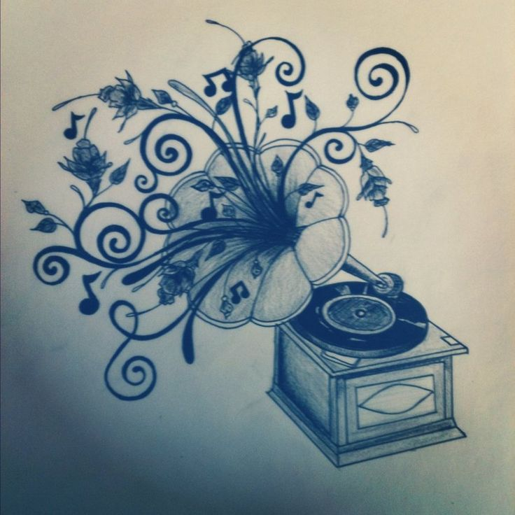 Record Player Drawing At Getdrawingscom Free For Personal Use