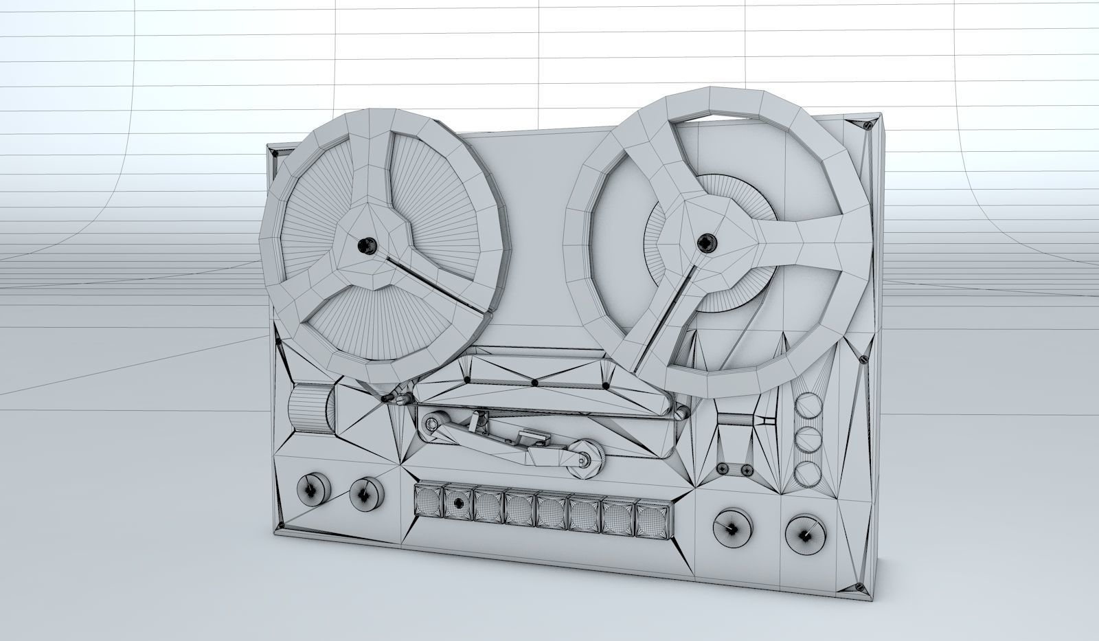 1600x933 Record Player 3d Cgtrader