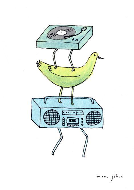 470x665 Record Player Birdoombox Why Not Illustrations