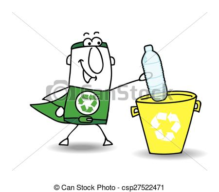 450x395 Recycling A Plastic Bottle With Joe. Recycle Man The Vectors
