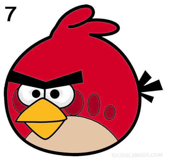 550x528 how to draw angry birds step by step pictures cool2bkids