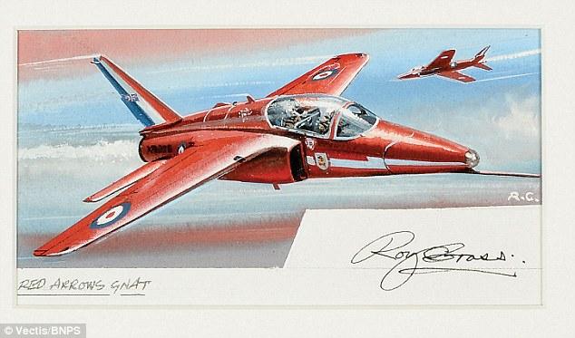 634x373 Airfix Model Aeroplane Box Artist Puts Original Sketches Up