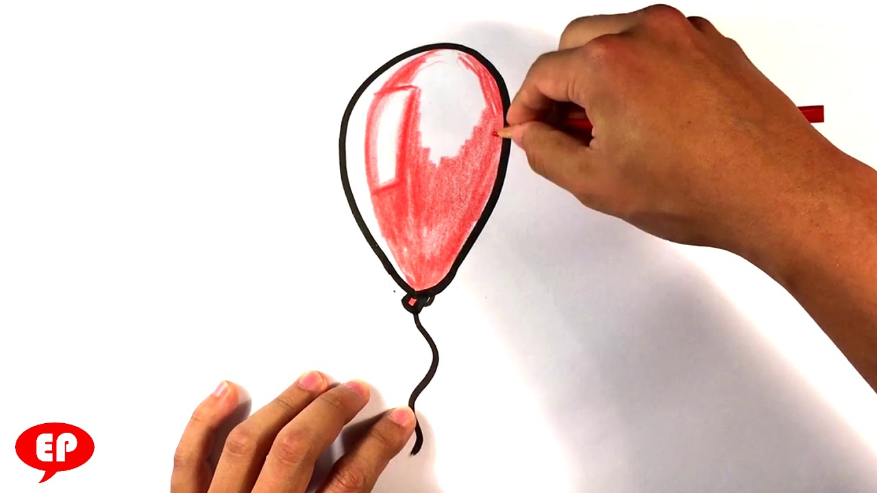 1280x720 How To Draw Red Balloon From It Movie
