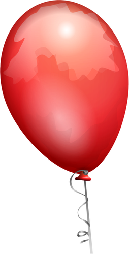 254x500 Vector Drawing Of Red Balloon On A Decorated String Public