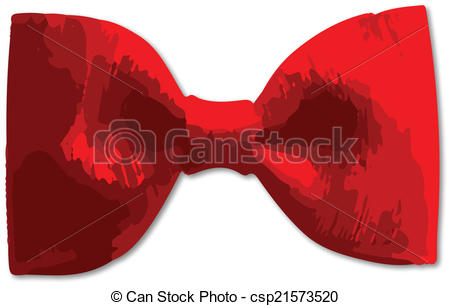 450x306 A Bright Red Bow Tie Over A White Background Vector Illustration