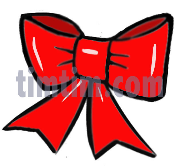 624x579 Free Drawing Of A Red Christmas Bow From The Category Christmas