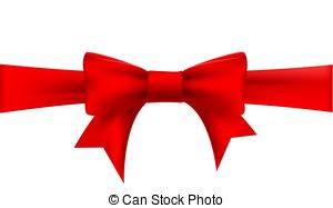 300x187 Holiday Red Bow With A Ribbon. Vector. Vector Illustration