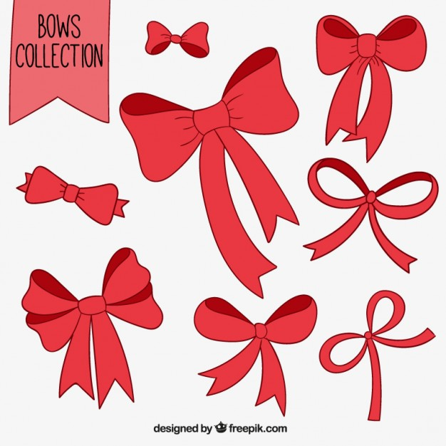 626x626 Red Bows Collection Vector Free Download