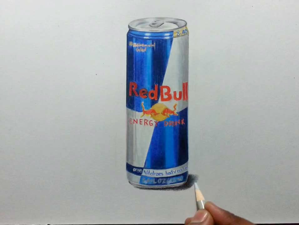 956x720 Drawing A Red Bull Can!