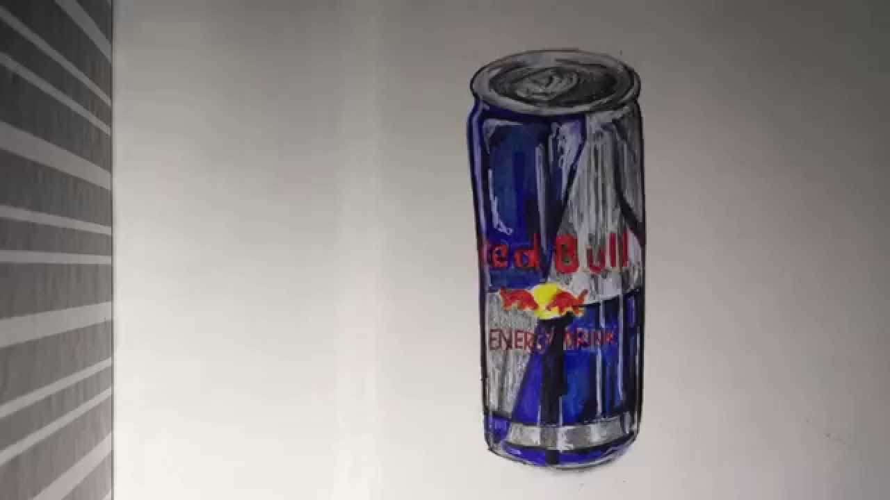 1280x720 How To Draw A Realistic Can Of Red Bull