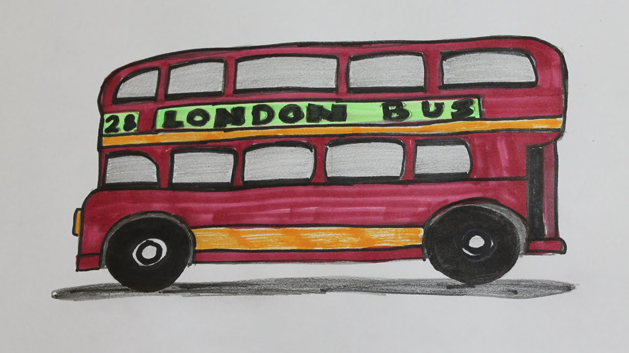 1280x720 How To Draw A London Bus