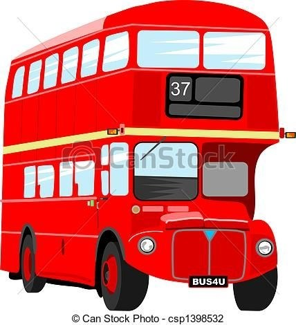 428x470 London Red Bus Drawing Truck New Ideas