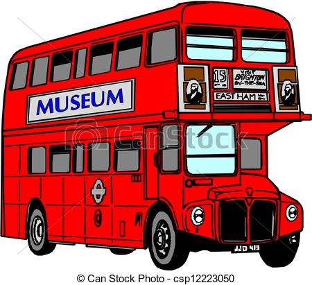 450x411 London Red Bus Clipart Vector