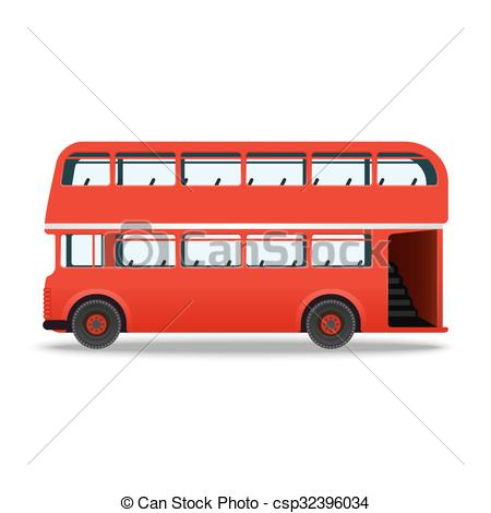 450x470 London Red Bus Vector Illustration Isolated On White Vectors