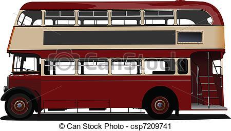 450x255 Double Decker Red Bus. Vector Illustration Vector Clip Art