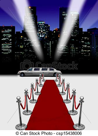 337x470 Limo And Red Carpet Stock Illustration