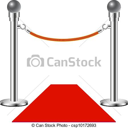 450x449 Red Carpet %u2013 No Entry Isolated On White Background Eps