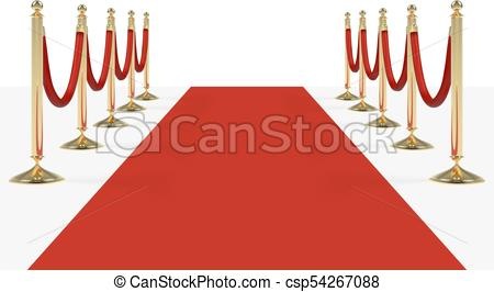 450x266 Red Carpet With Red Ropes On Golden Stanchions. Exclusive