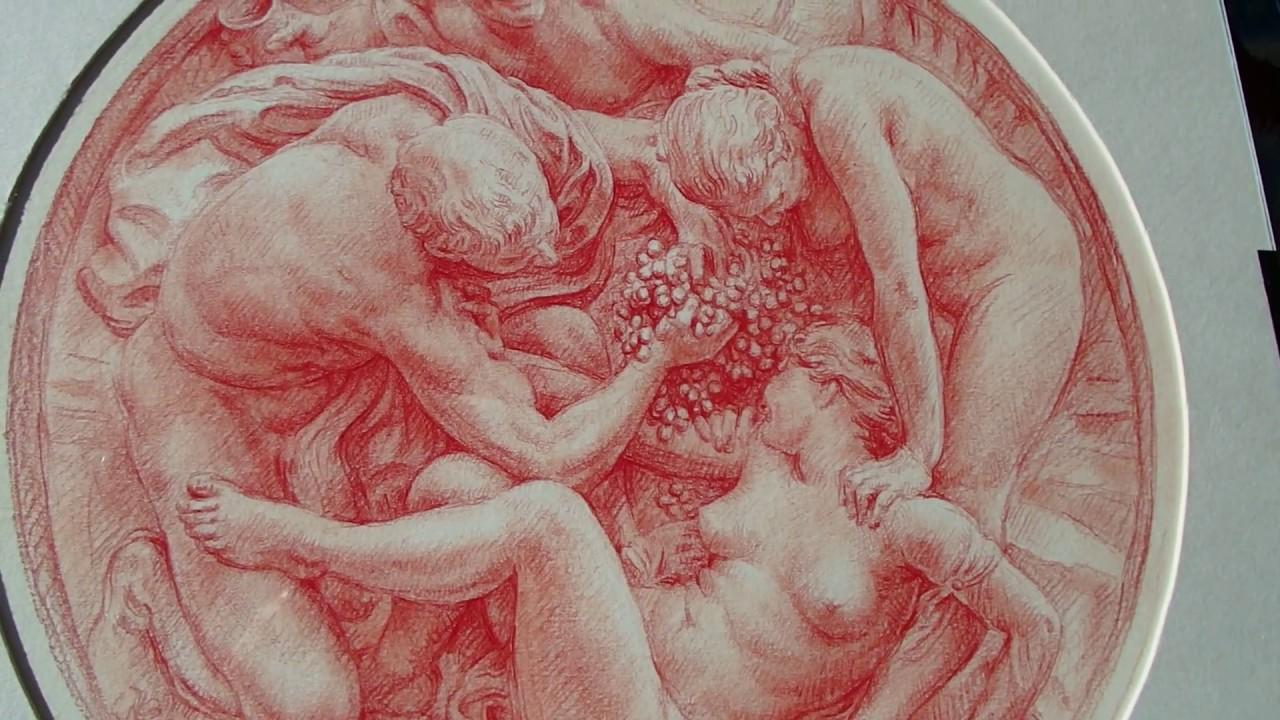 1280x720 Drawing Red Chalk ,kamil Strzelecki