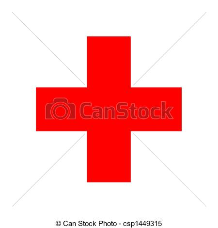 450x470 2d Illustration Of The Red Cross Sign Stock Illustrations