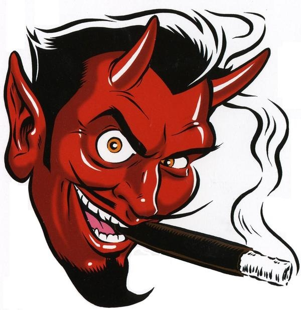 600x619 De Recherche D'Images Pour Smoking Red Devil Tattoo