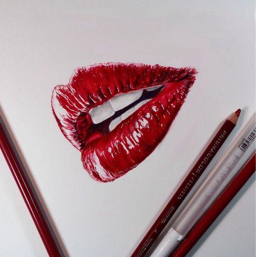 500x501 Red Lips Drawing Lips Drawing Lip