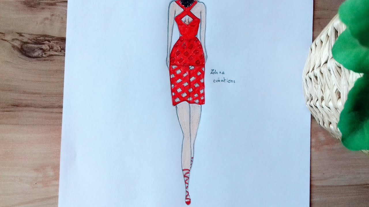 1280x720 How To Draw Red Dress