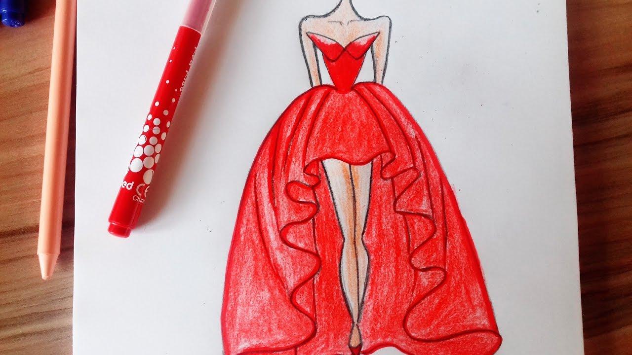 1280x720 How To Draw A Wonderful Dress