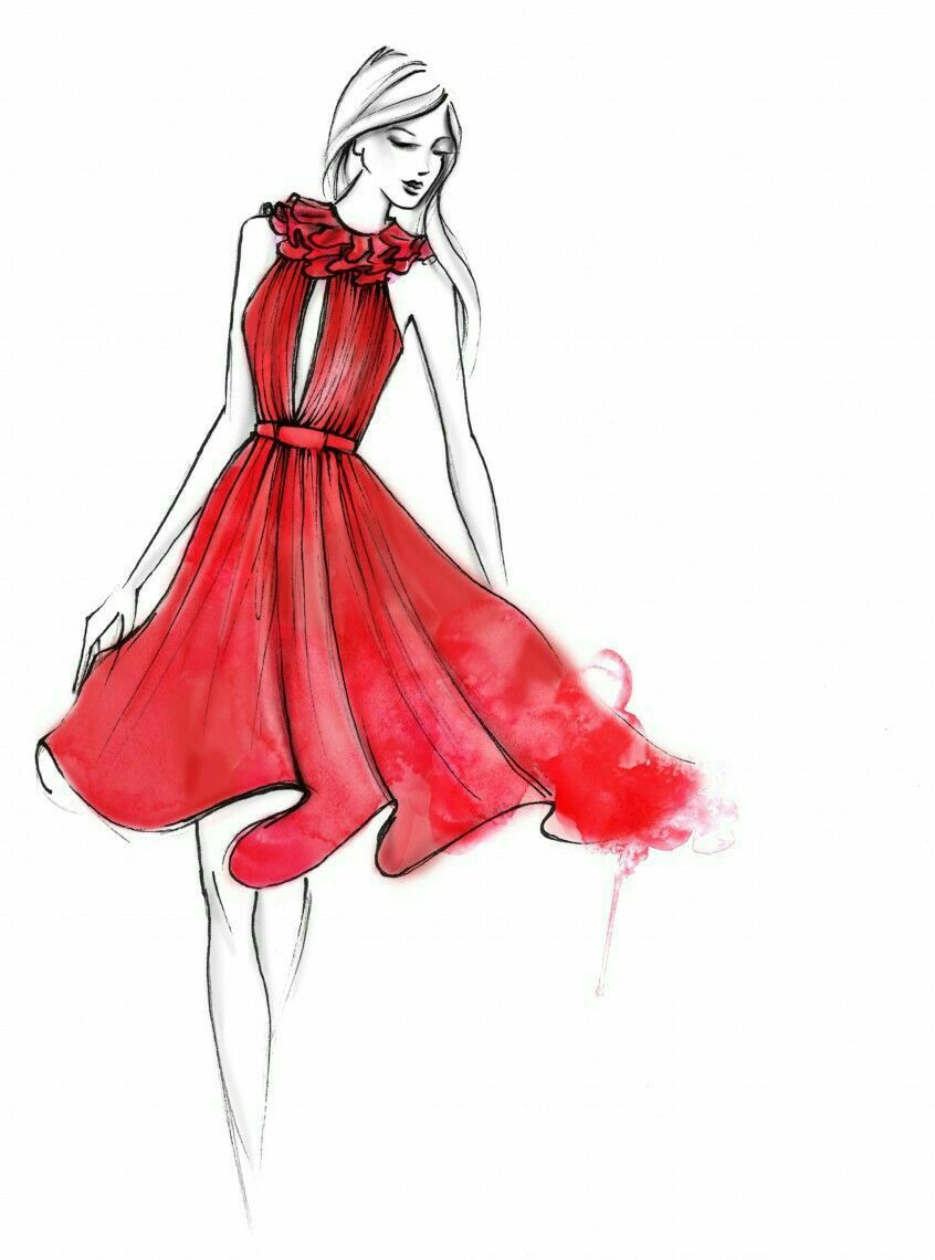 846x1140 Pin By Prachi N. On Gowns Fashion Illustrations