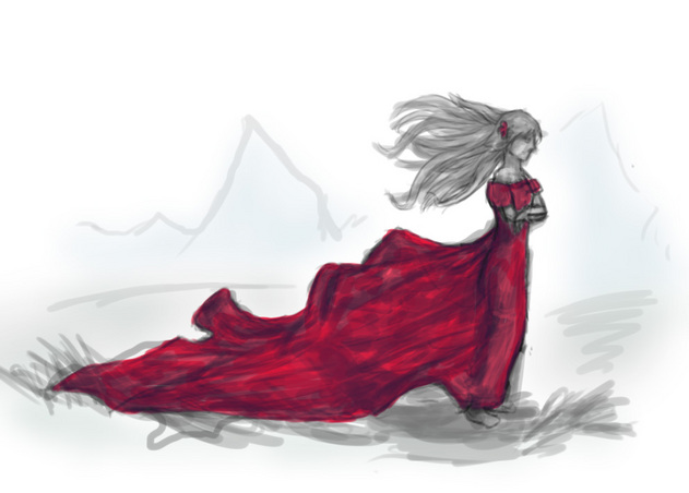 631x452 Red Dress (Or, I Draw A Girl For Once)