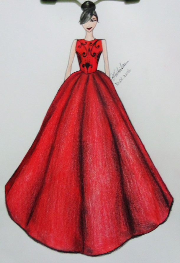 610x891 Dress Fashion Sketch 3973305.jpg Imagenes