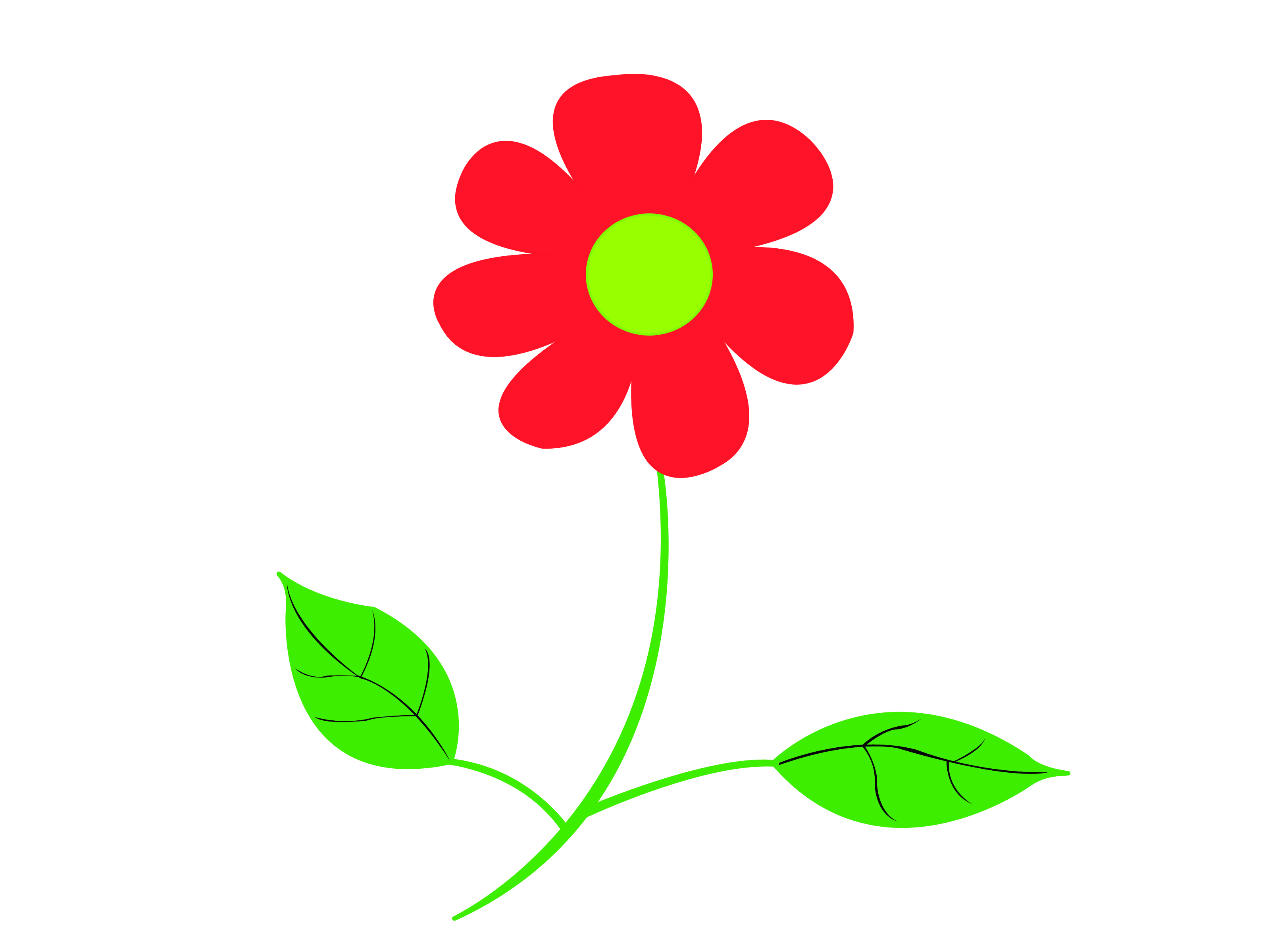 Red Flower Drawing at GetDrawings.com | Free for personal use Red ...