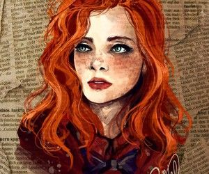 300x250 Red Hair Drawing Tumblr
