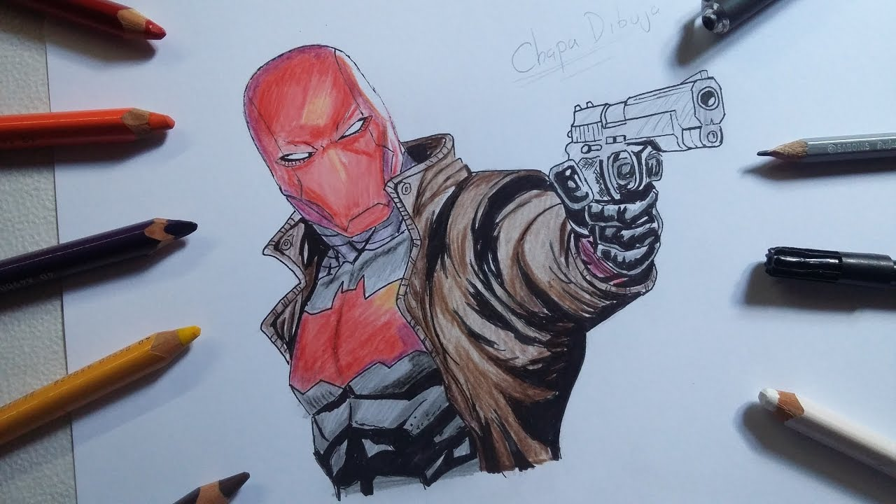 1280x720 Dibujo De Red Hood Drawing Red Hood (Chapa Dibuja Vs Joselyx98