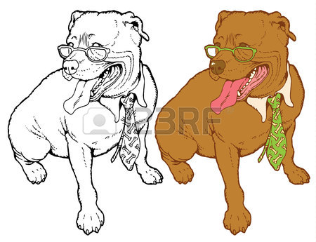 450x345 1,396 Pit Bull Stock Illustrations, Cliparts And Royalty Free Pit