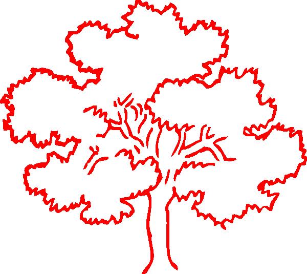 600x535 Red Oak Tree Silhouette Clip Art