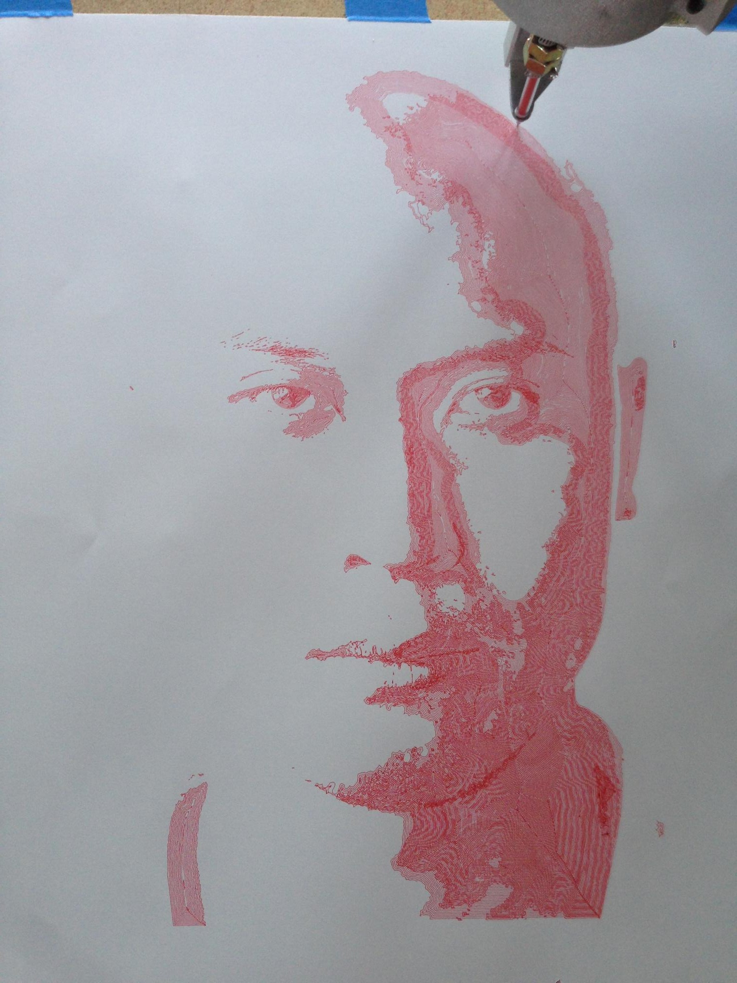 1500x2000 Dinh 30 X 22 Inches Pen And Ink Drawing In Five Colors