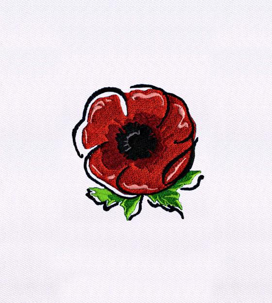 560x625 British Red Poppy Flower Embroidery Design Embmall