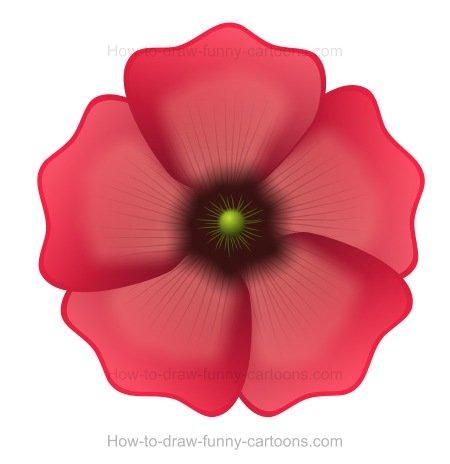 450x464 To Draw A Poppy