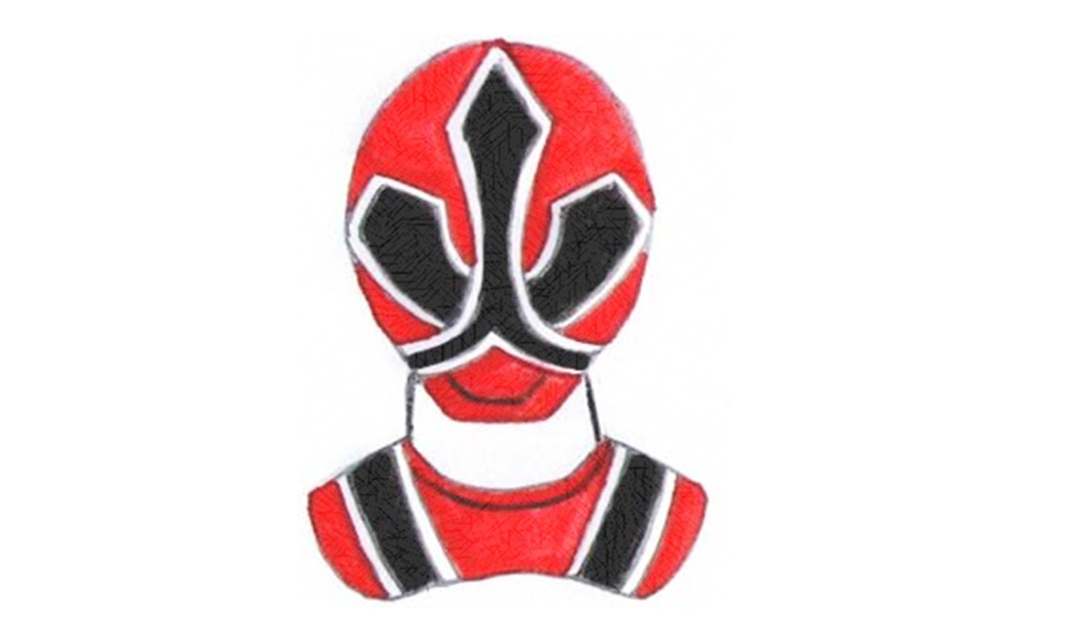 1500x885 How To Draw Red Ranger Samurai