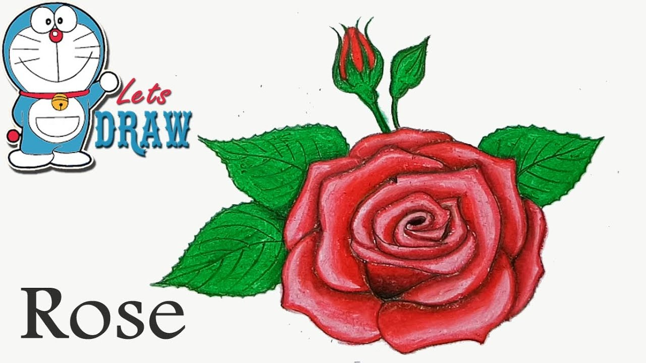 1280x720 How To Draw Rose With Oil Pastel Step By Step