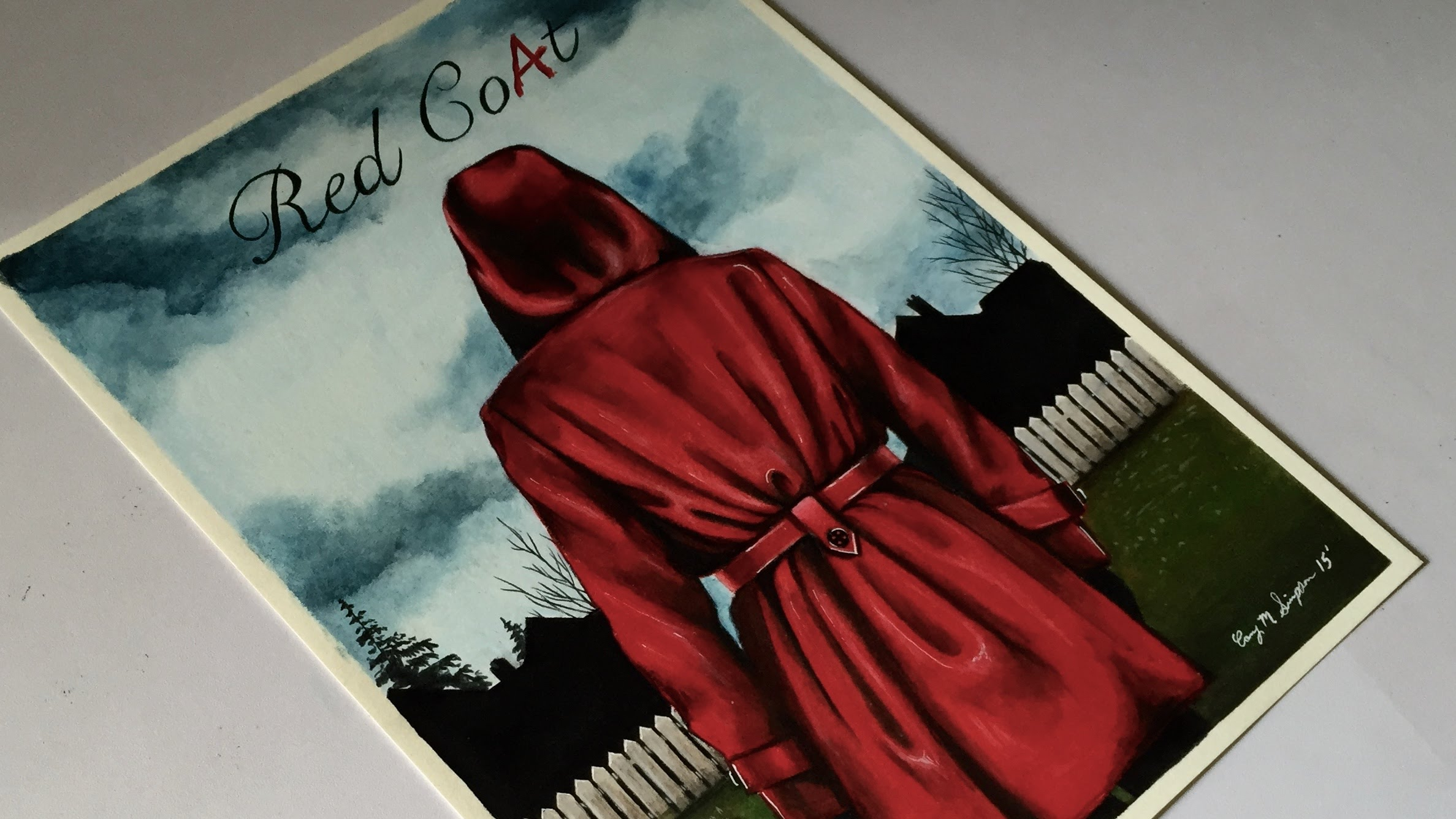 2375x1336 Drawing Red Coat From Abc Family's Pretty Little Liars