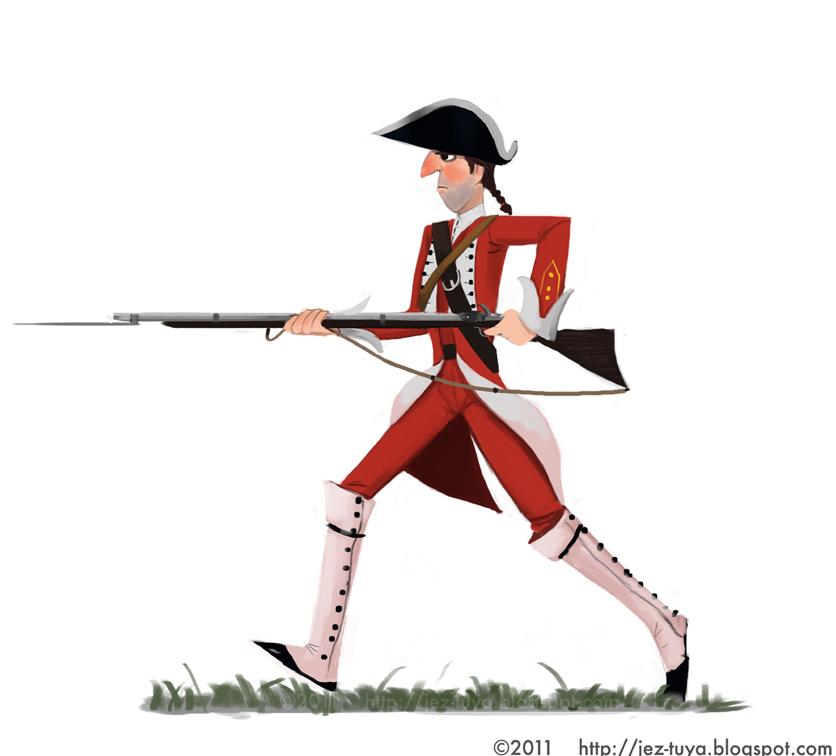 836x756 Jez Tuya Illustration British Redcoat
