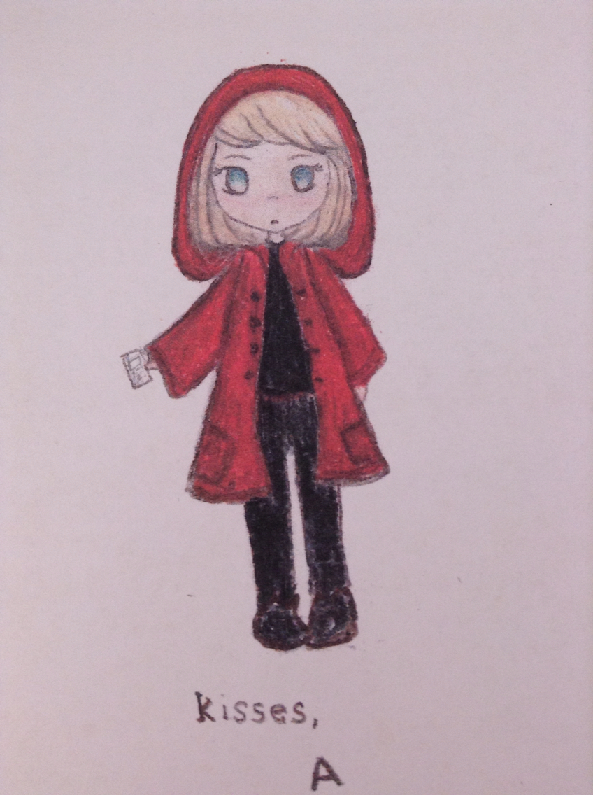 848x1136 My Red Coat Drawing From Pretty Little Liars By Our Art