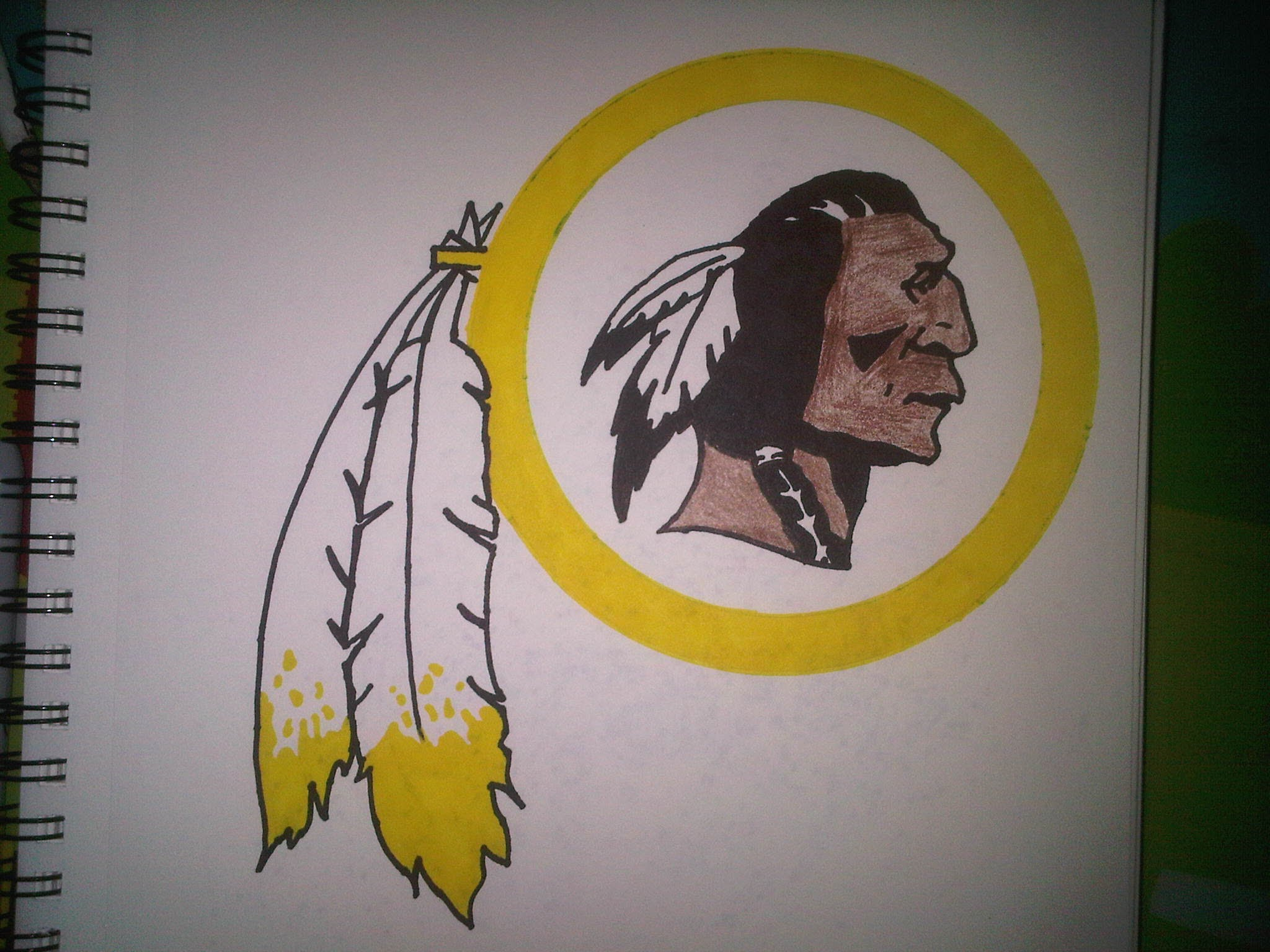 How To Draw Redskins Logo