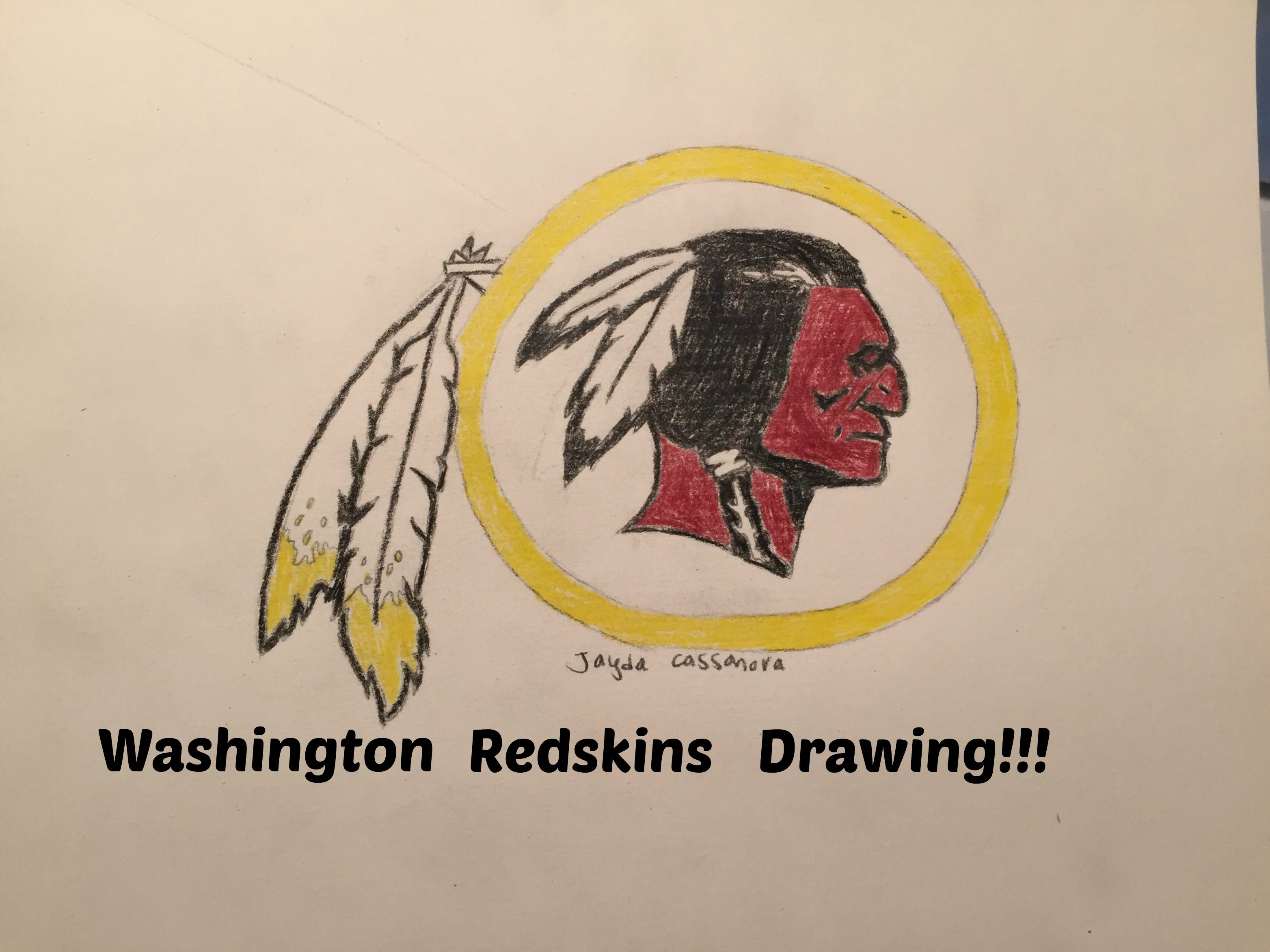 3128x2346 Washington Redskins Logo Drawing (Time Lapse)