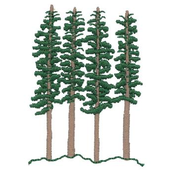 350x350 Redwood Trees Embroidery Designs, Machine Embroidery Designs