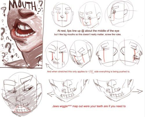 500x405 13 Best Drawing References Mouth Images On Drawing